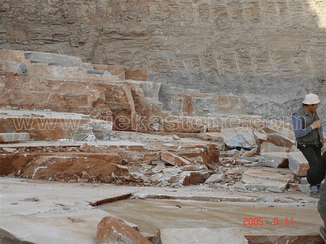 beige slate quarry