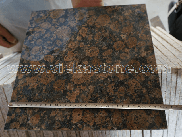 granite baltic brown meansure