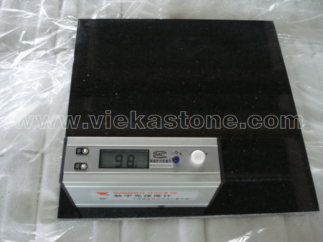 granite black galaxy polished degree