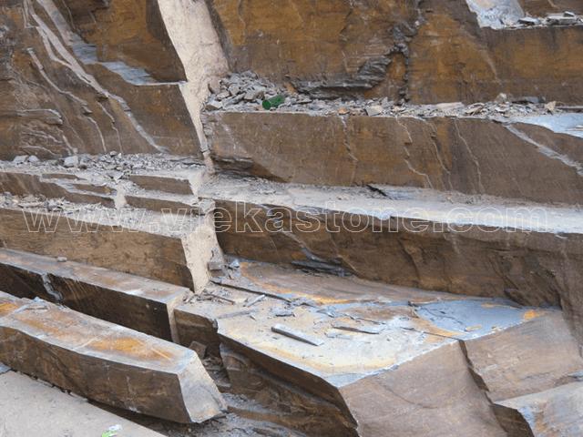 rusty slate quarry