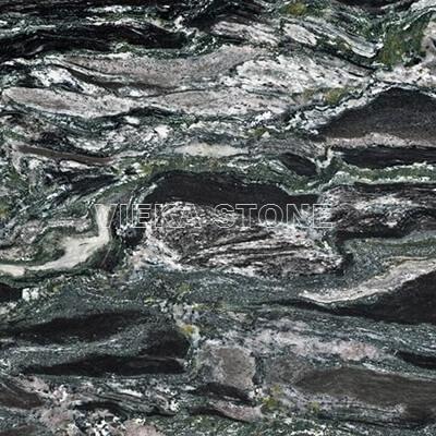 sea wave green granite