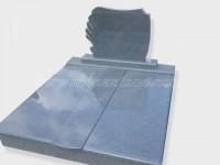 Double G654 granite tombstone monument (10)