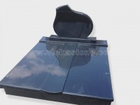 Double india black granite tombstone monument (11)