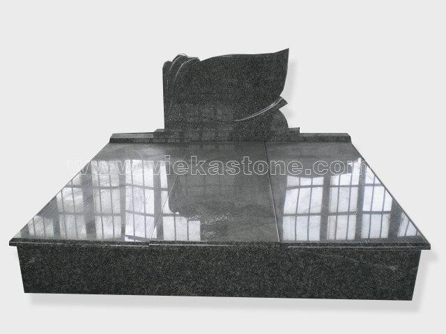 Double G654 granite tombstone monument (14)