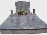Double bahama blue granite tombstone monument (17)