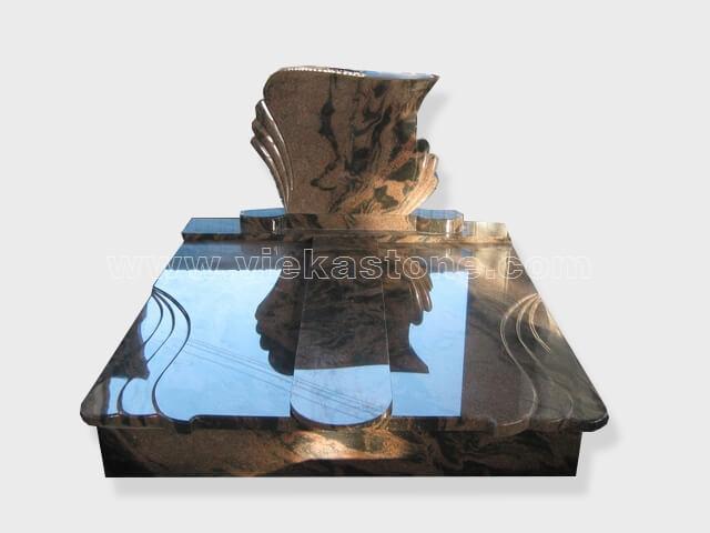 Double aurora granite tombstone monument (19)