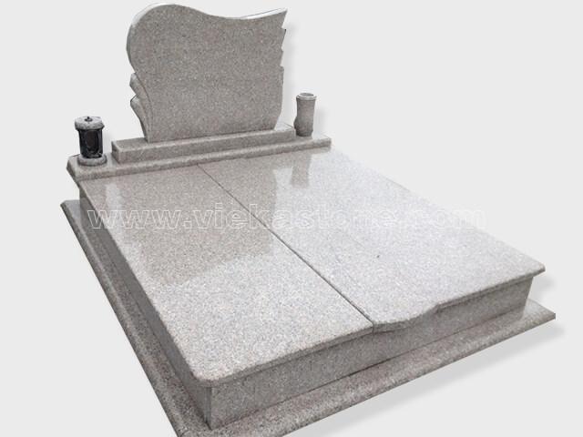 Double G664 granite tombstone monument (20)