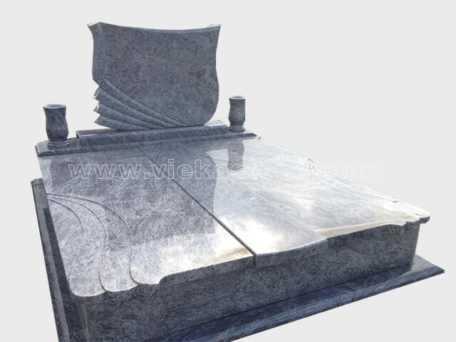 Double Granite Tombstone 022 Vieka Natural Culture