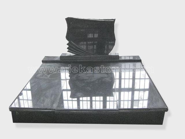 Double G654 granite tombstone monument (24)