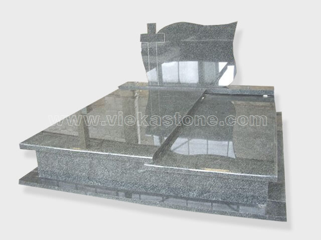 Double china impala granite tombstone monument (3)