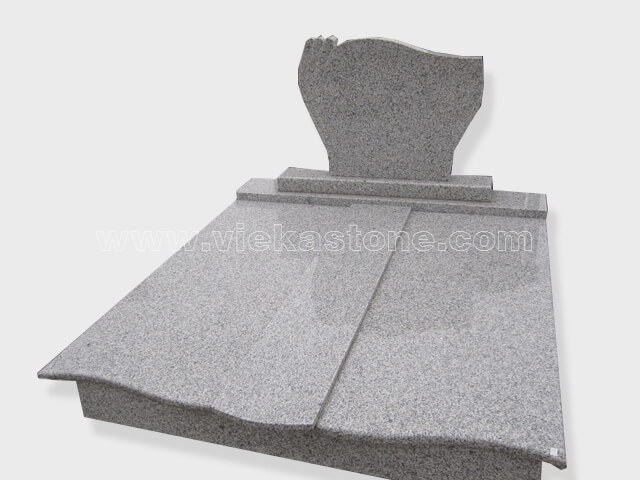 G623 Double granite tombstone monument (32)
