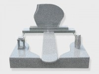 Double G603 grey granite tombstone monument (5)