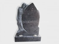 angel statue bahama blue granite tomb headstone (1)