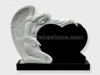 angel statue shanxi black granite tomb headstone (13)