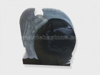 angel statue black granite tomb headstone (3)