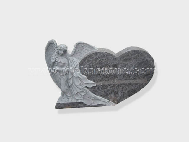 angel statue bahama blue granite tomb headstone (6)