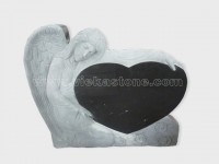 angel statue black granite tomb headstone (7)