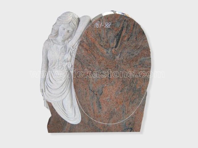 multicolor red angel statue granite tomb headstone (9)