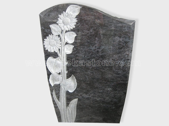 carved bahama blue granite tomb headstone (2)