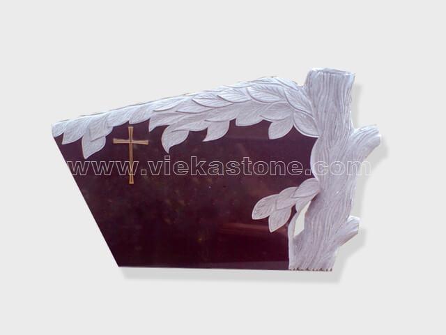 carved inda red granite tomb headstone (20)