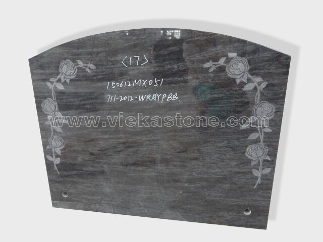 carved india blue granite tomb headstone (32)