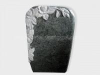 carved olive green granite tomb headstone (7)