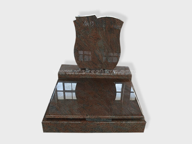 multicolor red granite mini tomstone 008 (1)