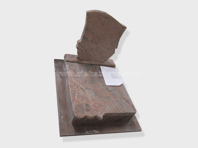 multicolor red granite mini tomstone 017
