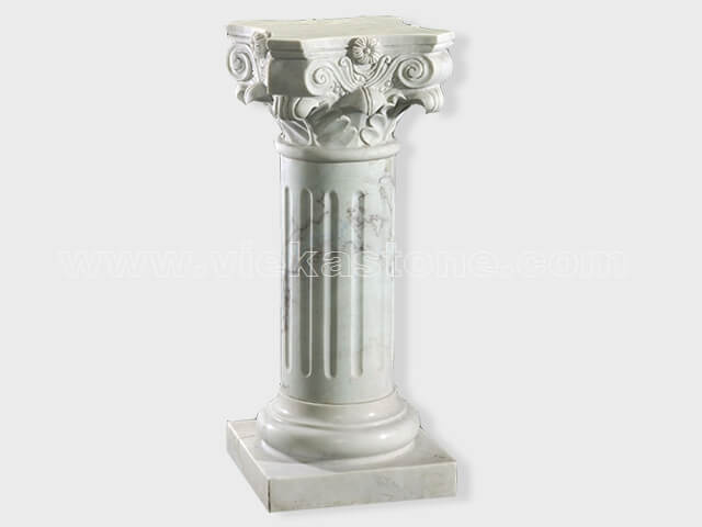 Column pillar sculptured marble (1)