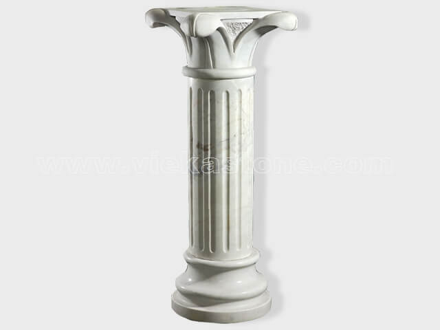 Column pillar sculptured marble (3)