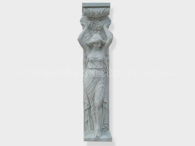 Column pillar sculptured marble (4)