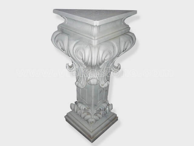 Column pillar sculptured marble (5)