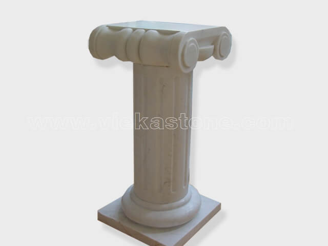 Column pillar sculptured marble (6)