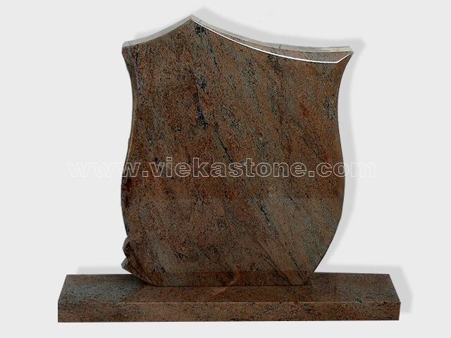 Multicolor Red Granite Headstone (10)
