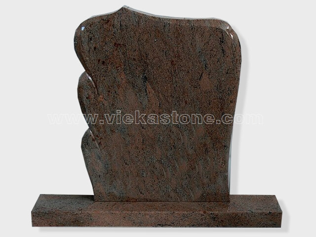 multicolor red Granite Headstone (11)