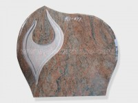 Multicolor red Granite Headstone (12)