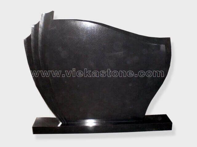 Black Granite Headstone (128)