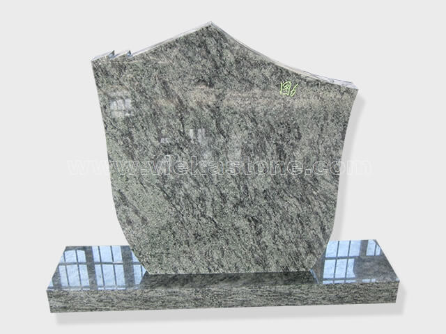 Olive Green Granite Headstone (13)
