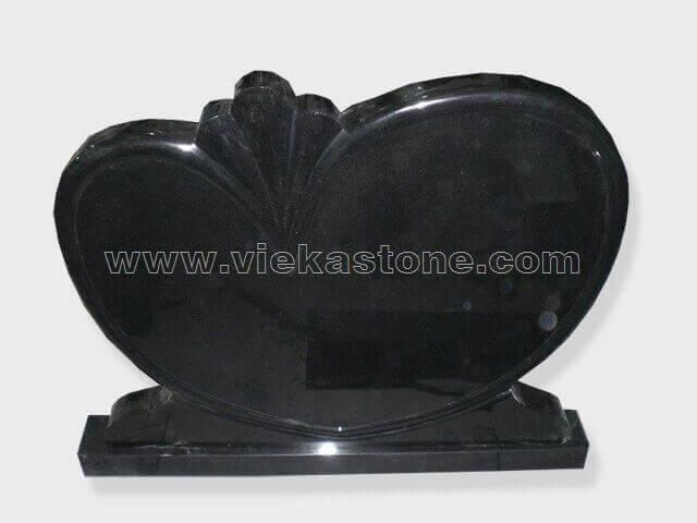 Black Granite Headstone (135)