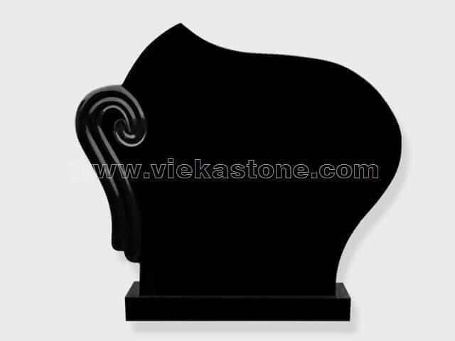 Black Granite Headstone (147)