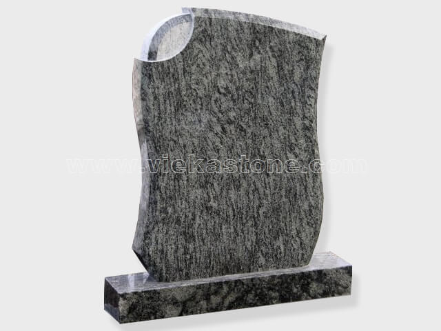 Olive Green Granite Headstone (15)