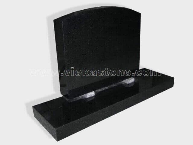 Black Granite Headstone (158)