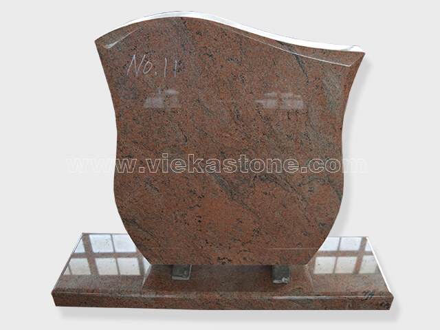 multicolor red Granite Headstone (18.2)