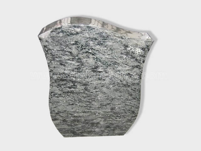 Olive Green Granite Headstone (18)