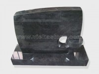 Bahama Blue Granite Headstone (2)