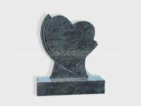 Bahama Blue Granite Headstone (32)
