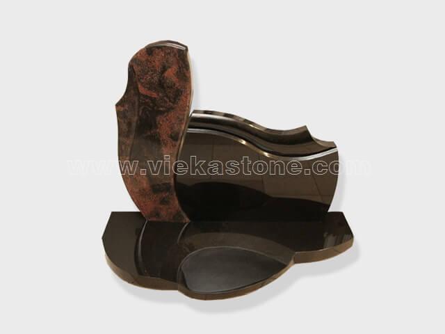 aurora shanxi black Granite Headstone (52)