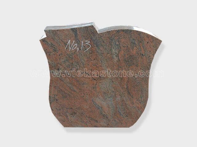 Multicolor Red Granite Headstone (77)