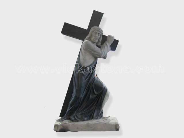 Jesus sculptured statue granite(1)