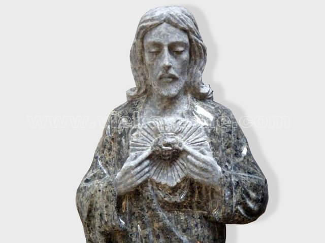 Jesus sculptured statue granite(2)
